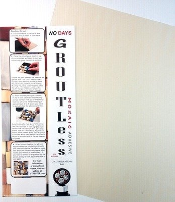 NO Days Groutless, Clear, 1 Sheet Roll 12.0