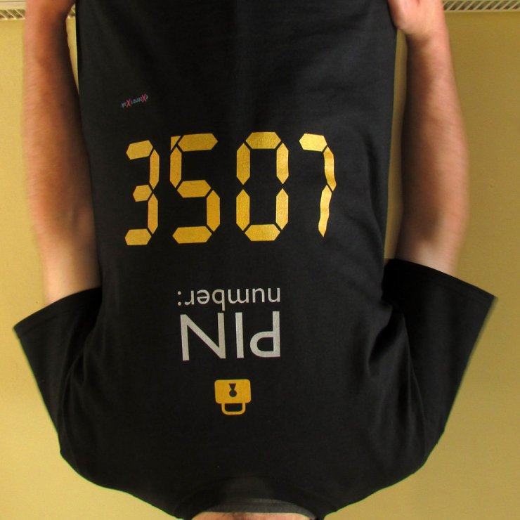 eXcentriX - PIN number T-shirt (upside down)
