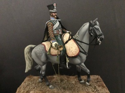 Mounted Hussar Trumpeter in Imperial Livery