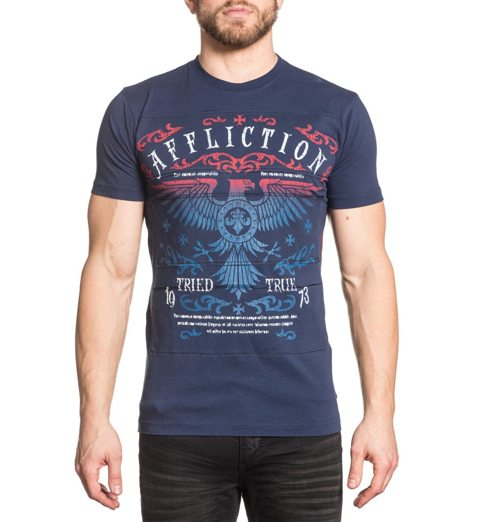 Affliction Bird Crew Neck T-shirt