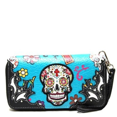 Sugar Skull Wallet Teal