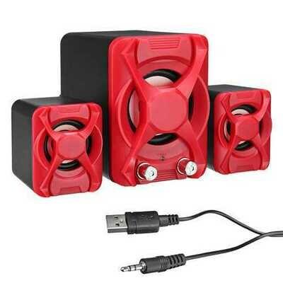 USB2.1 Mini Computer Speaker Heavy Bass Stereo USB Supply Speaker for Laptop Computer