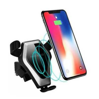 Qi Wireless 10W Fast Charging Gravity Auto Lock Car Air Vent Phone Holder Stand for iPhone 8 X