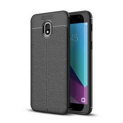 Bakeey Litchi Leather Soft TPU Protective Case for Samsung Galaxy J7 duo