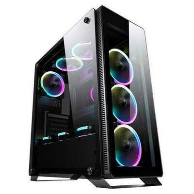Segotep halo7 plus USB3.0 Gaming Tempered Computer Case PC ATX M-ATX ITX Mid Tower Desktop Chassis