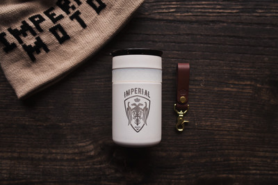 Elemental 12 Oz Coffee Tumbler - WHITE