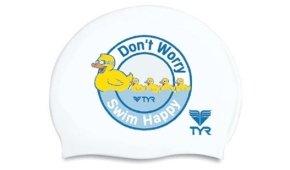 Шапочка для плавания TYR Duck (DON'T WORRY SWIM HAPPY)