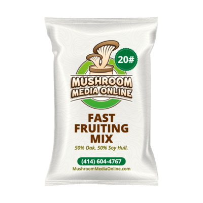 Fast Fruiting aka Masters Mix (50% Oak/50% Soy Hull Mushroom Growing Pellets) - Free shipping