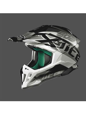 Casco CROSS X-LITE X-502 RESISTENCIA FLAT BLACK/WHITE col. 21