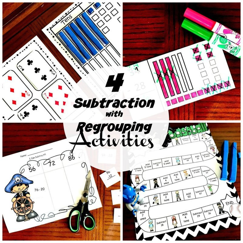 4 Activities to Practice Subtracting With Regrouping