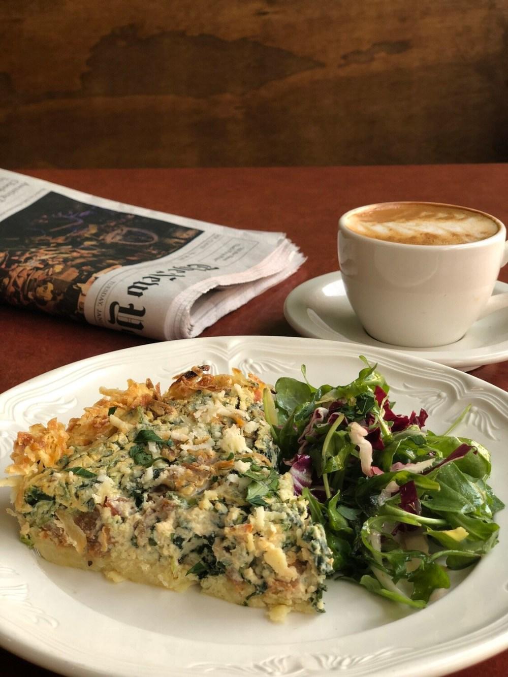 Whole Quiche: Spinach and Tomato Confit (gf)