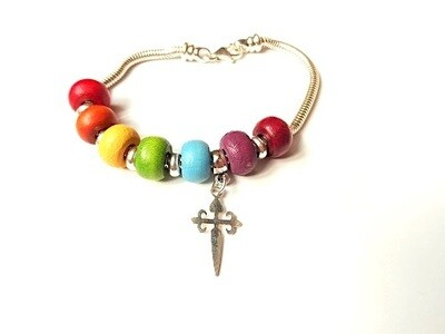 Take Care bracelet ~  Rainbow of Hope
