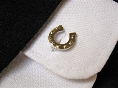 Lucky horseshoe cufflinks - for protection, safety and success