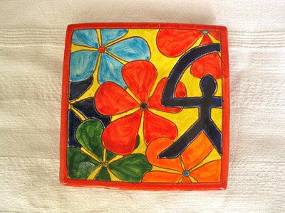 Spanish plate ~ Indalo autumn, square
