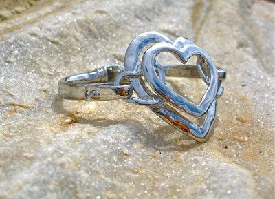 Layers of love heart bracelet