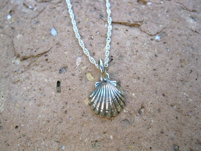 Camino scallop shell necklace ~ wish safe travels