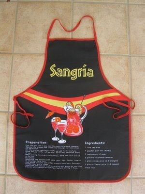 Pinny / apron ~ Sangria, black
