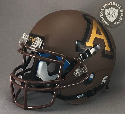 Austin Panthers HS (TX) 2017-18 Matte Brown (mini-helmet)