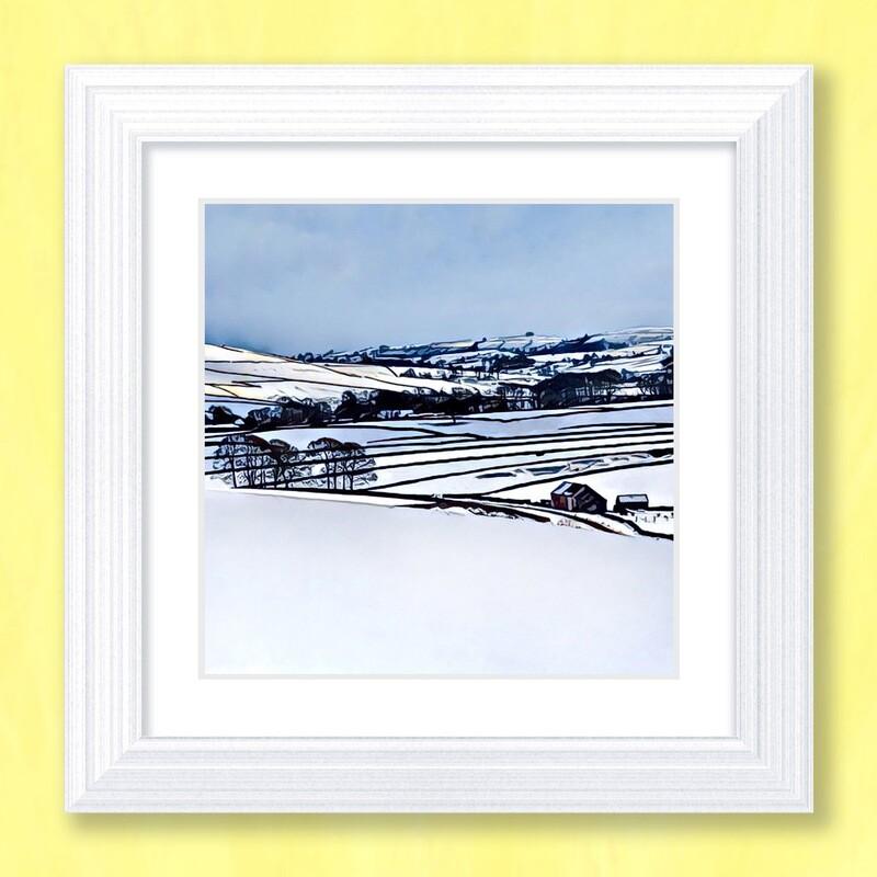 Snowy Dales Art Print