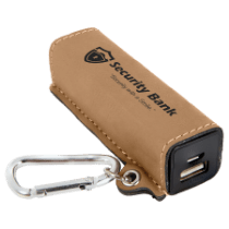 Leatherette 200 mAh Power Bank with USB Cord