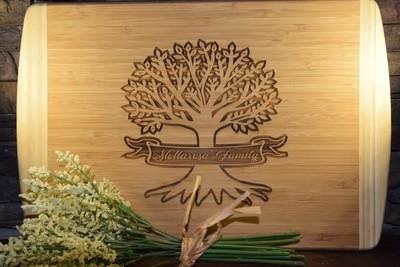 Bamboo Two-Tone Cutting Board