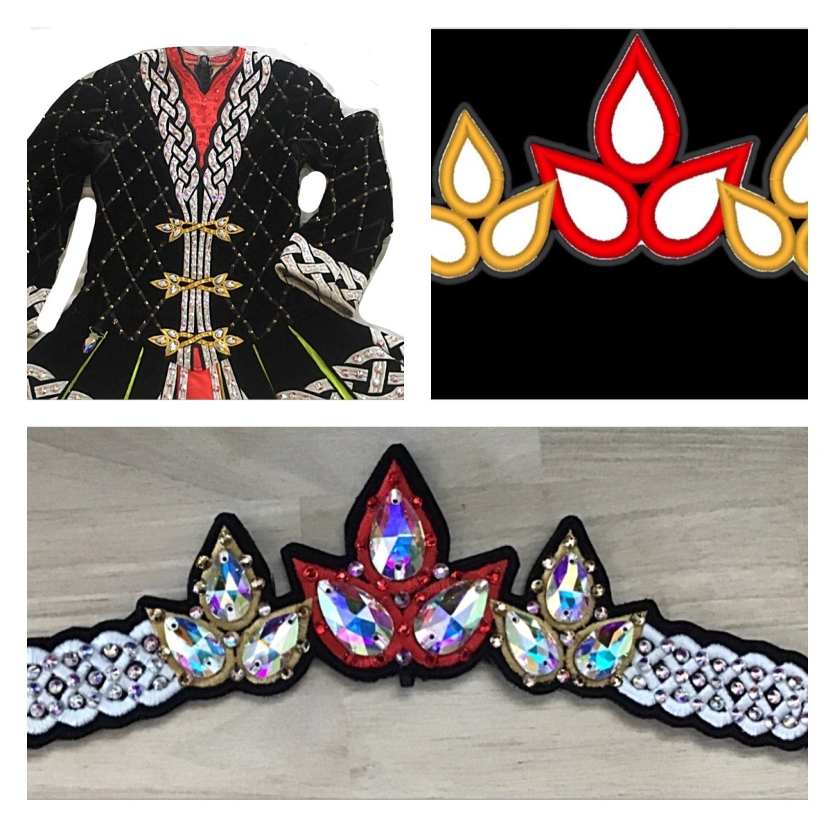 Custom designed  tiara to match your solo costume. $20 deposit for the design required!