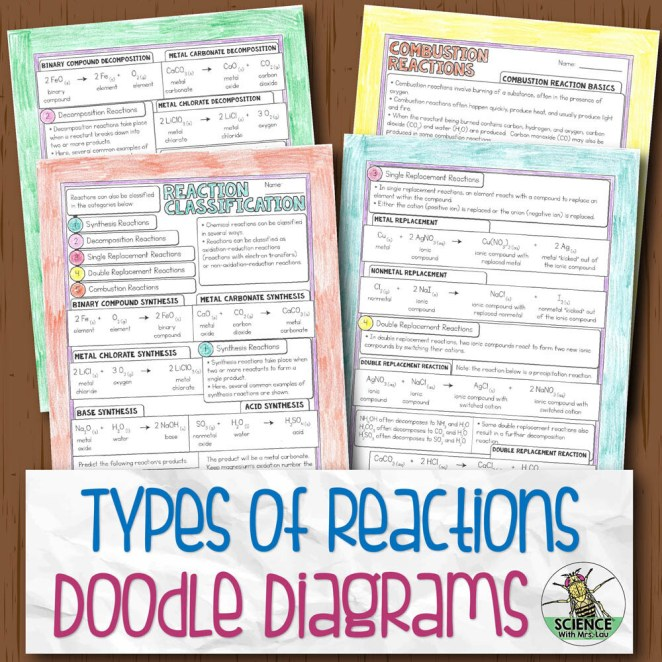 Types of Reactions Doodle Diagram Notes