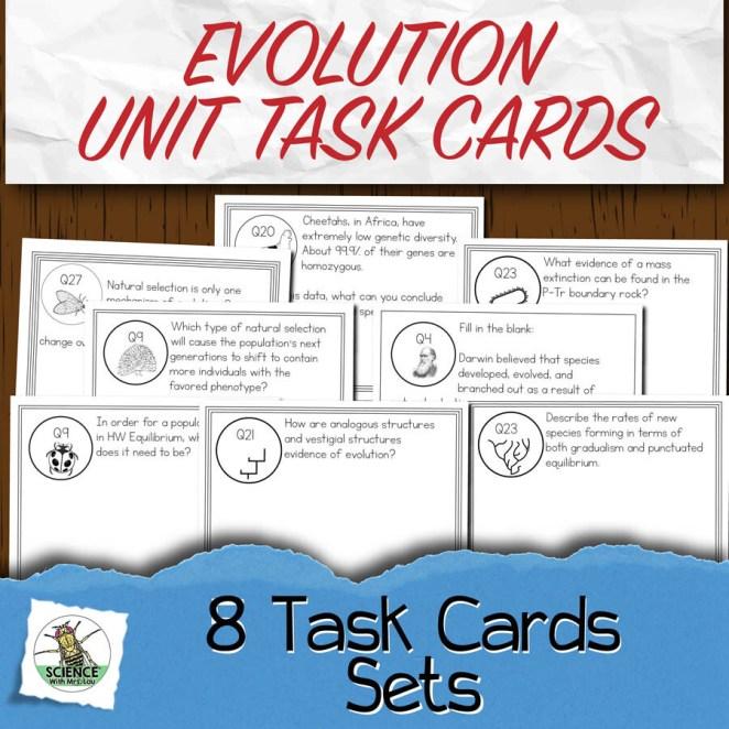 Evolution Task Card Unit