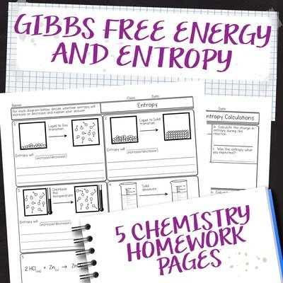 Chemistry Unit 13: Gibbs Free Energy Homework Pages