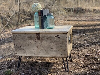 Chippy Trunk Table, Vintage Coffee Table, Storage Table