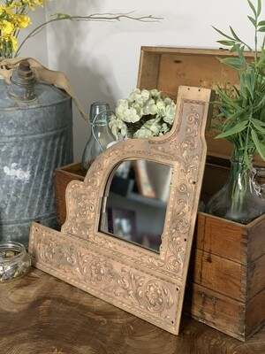 Vintage Mirror, Ornate Mirror, Brass Frame Mirror