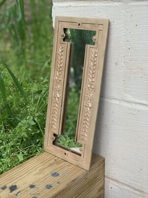 Vintage Mirror, Vintage Brass, Industrial Salvage
