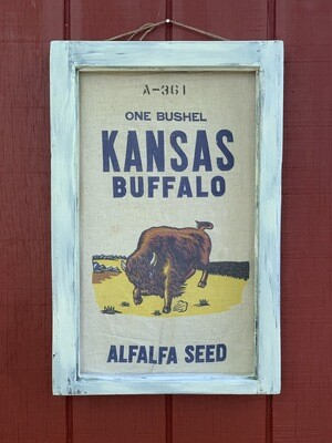 Vintage Wall Art, Grain Sack, Farm Decor