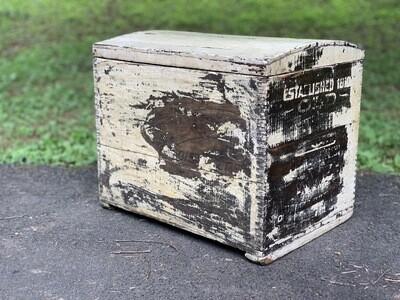 Vintage Box, Chippy Box, Storage Box