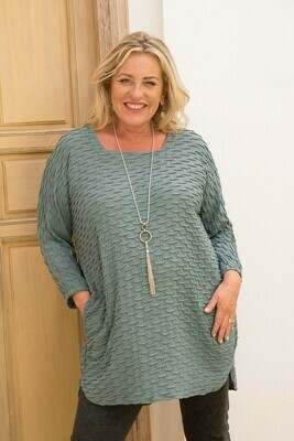 Timona - Square Neck Tunic - Soft Teal