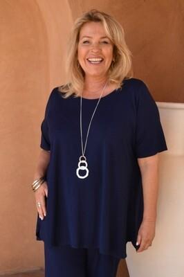 Tessa - Bright Navy Jersey short sleeve T-Shirt