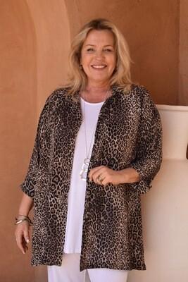 Teresina - Leopard print A-Line blouse.