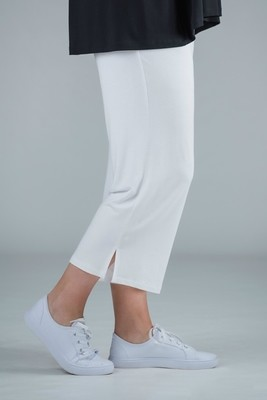 Payton - Jersey crop trousers white