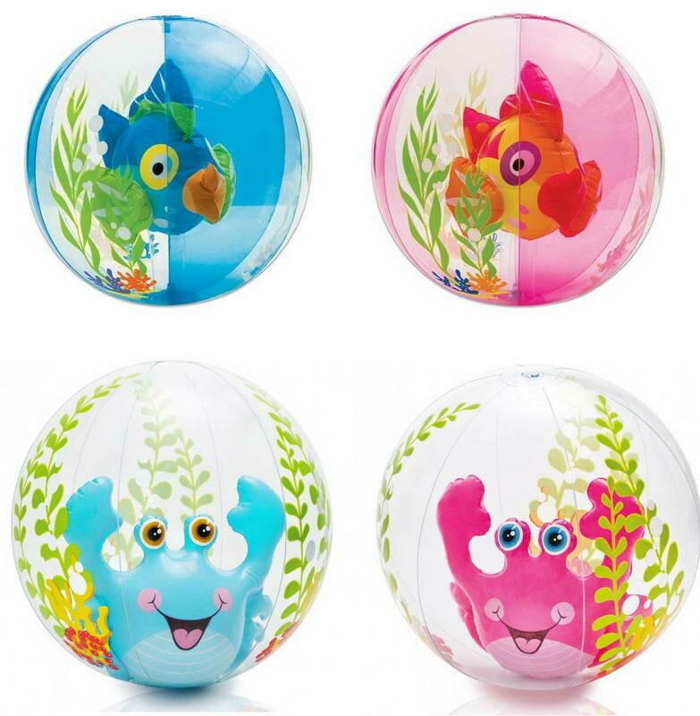 Надувной мяч пляжный мяч Aquarium Beach Ball Intex 58031NP