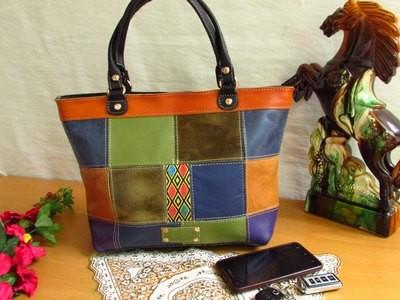 Colorful Leather women handbag Women Handbag