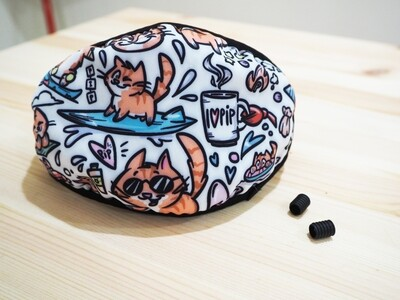PREORDER: Pip the Beach Cat Face Mask with