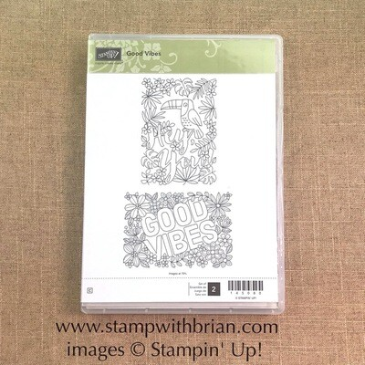 Good Vibes Clear-Mount Stamp Set - NEW