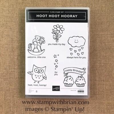 Hoot Hoot Hooray Cling Stamp Set