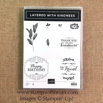 Layered with Kindess Cling Stamp Set