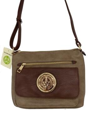 155 Two Tone Pocket Bag Khaki