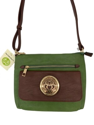 155 Two Tone Pocket Bag Olive Green