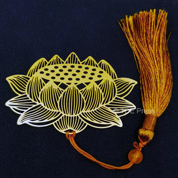 Golden Lotus Bookmark 2