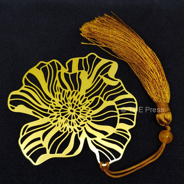 Golden Lotus Bookmark 3