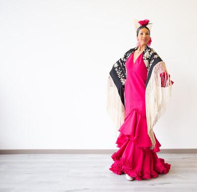 Vestido Sibilina Modelo Julieta Color Bugambilia Talla 44