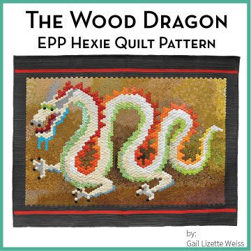 Hexie Dragon Quilt Pattern - PDF